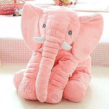Baby Sleeping Pillow Filled Plush Pillow Plush Elephant Toy(Pink)