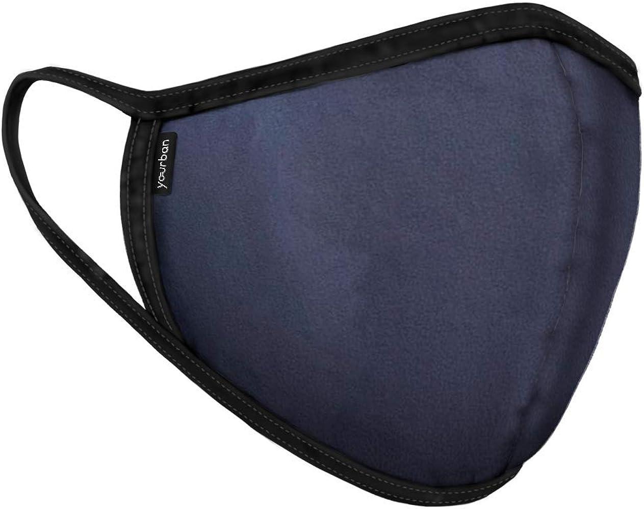 YOURBAN Mascarilla higiénica reutilizable y lavable con filtro (adulto) en color azul marino. Modelo Blue Dark: Amazon.es: Ropa y accesorios