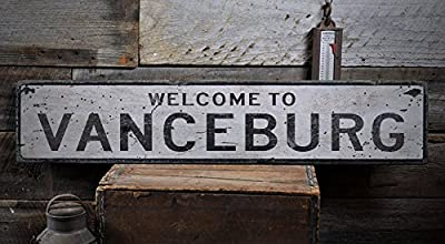 Welcome to VANCEBURG - Custom VANCEBURG, KENTUCKY US City, State Distressed Wooden Sign