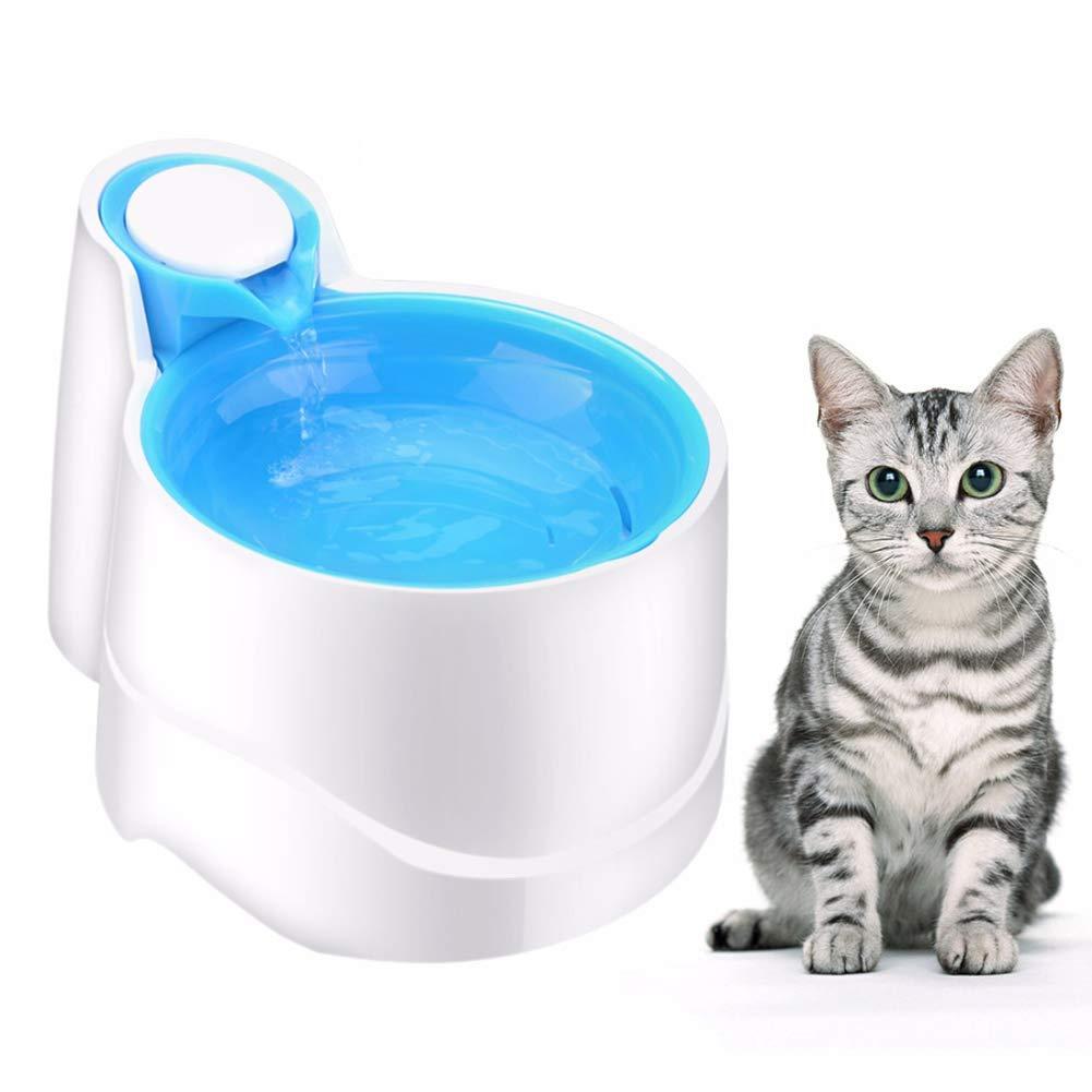 WLDOCA Luz Nocturna automática Fuente de Agua del Gato del Perro casero, Cuencos de consumición del dispensador del Agua de la Fuente eléctrica de 2.5 ...
