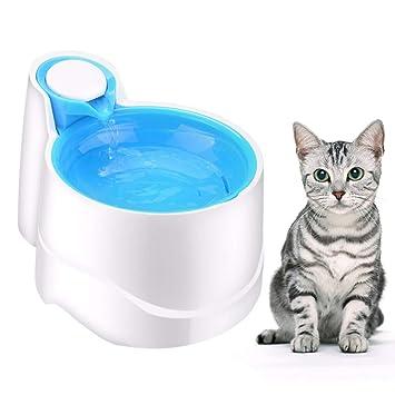 WLDOCA Luz Nocturna automática Fuente de Agua del Gato del Perro casero, Cuencos de consumición