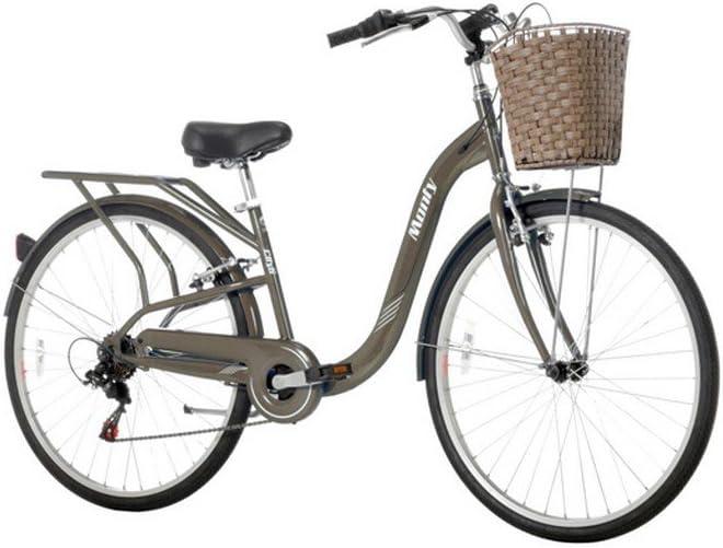 Monty City 6 - Bicicleta Urbana, Color marrón, 15