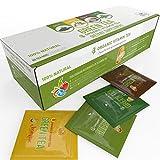 Organic Green Tea - Variety Pack - 80 Tea Bags - 20 of Each Flavor (2 grams each) by Kiss Me Organics