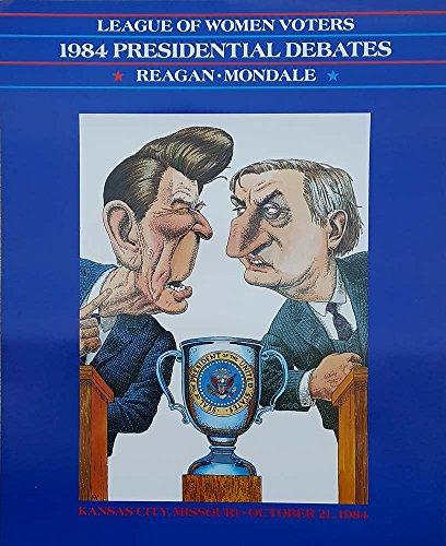 1984 RepulbicanPresident Ronald Reagan vs Democrat Walter Mondale Debate Poster