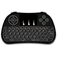 Mudix P9 2.4GHz Mini Wireless Keyboard with Touchpad Mouse, Rechargable Li-ion Battery with Mouse for PC/Mac/Android