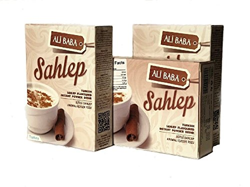 Sahlep Turkish Sweet Creamy Hot Drink 3 Boxes Total 10.5 Ounce by Marmara