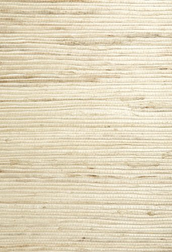 Kenneth James 63-54727 Qi Grass Cloth Wallpaper, Taupe by Kenneth James