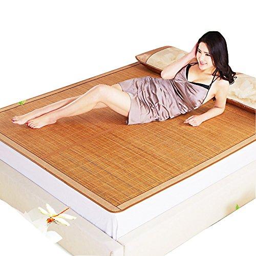 - Summer Sleeping mat, 3-Piece Bamboo mat King mat Double-Sided Folding Air Conditioning mat Queen-A 90x190cm(35x75inch)