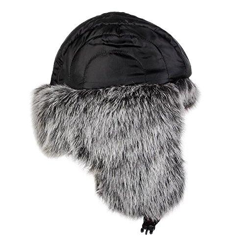 51206f3d994 lethmik Winter Faux Fur Hunting Hat Unisex Trapper Russian Aviator Trooper  Hat