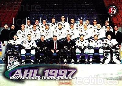 (CI) Kentucky Thoroughblades, Team Photo Hockey Card 1997-98 Kentucky Thoroughblades 1 Kentucky Thoroughblades, Team Photo