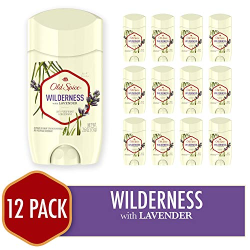 Old Spice Antiperspirant Deodorant for Men, Wilderness With Lavender, Inspired By Nature, Invisible Solid 2.6 Ounce (Pack of 12)