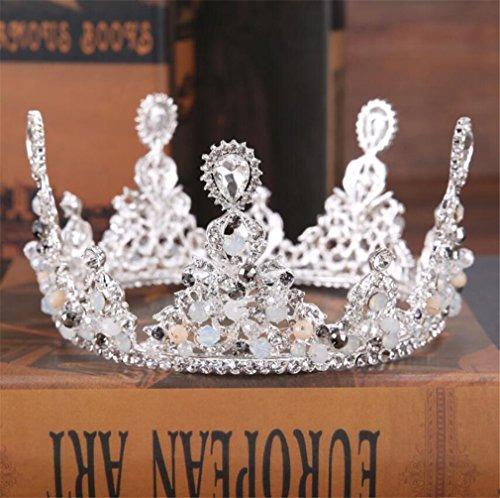 Continental La Corona De La Novia Accesorios De La Boda Aleación De Diamantes Retro Aro De Pelo De La Corona Para Princesa...