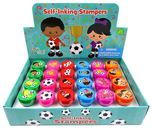 TINYMILLS 24 Pcs Soccer Stampers for Kids