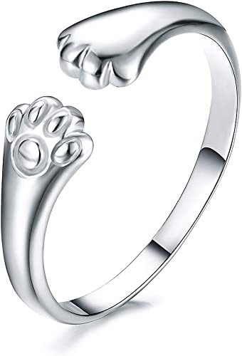 Cat Design Finger Ring For Women Girls Gift Jewelry Adjustable Size ONE FREE