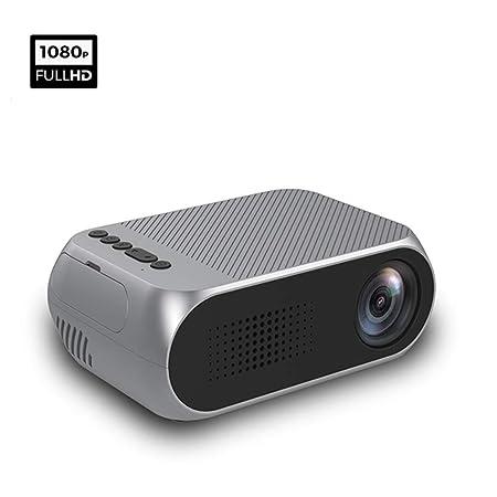 YTDDD Mini proyector, batería incorporada, proyector portátil de ...