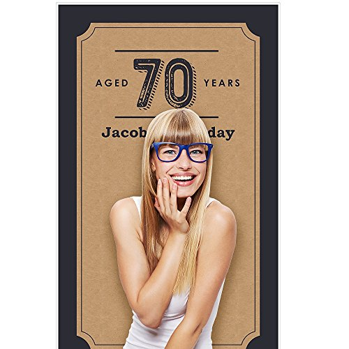 Personalized Photo Booth Backdrop (Custom 70th Milestone Birthday - Dashingly Aged to Perfection - Personalized Birthday Party Photo Booth Backdrops - 36