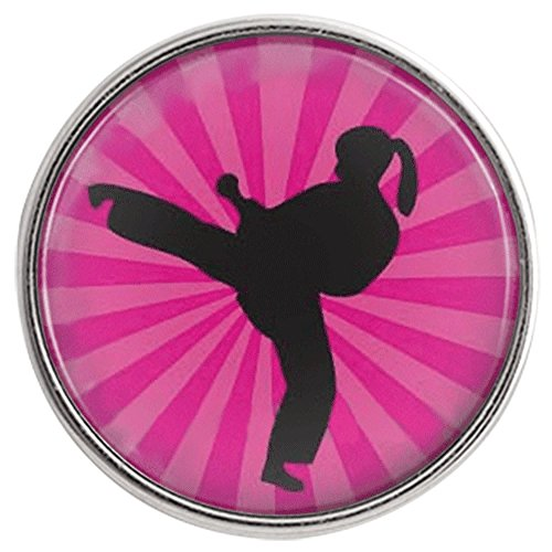 Chunk Snap Charm Martial Arts Karate Tae Kwon Do Kung Fu Pink Female 20mm 3/4