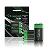 Enegitech 2 Count 600mAh 9 Volt High Volume Ultimate Lithium Battery For Smoke Detectors,digital cameras,game controllers, toys,and clocks