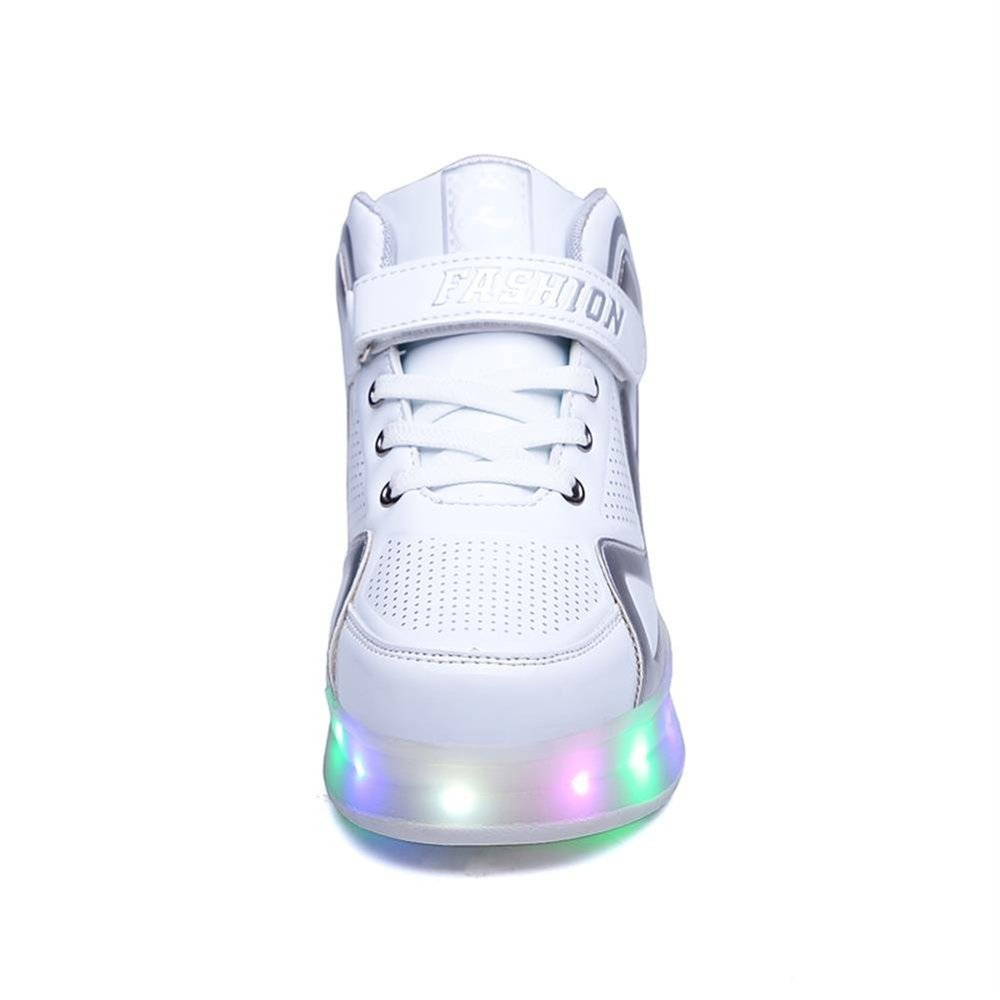 Boy and Girls LED Light up Roller Skate Shoes with Wheels Outdoor Single Wheel Double Wheel