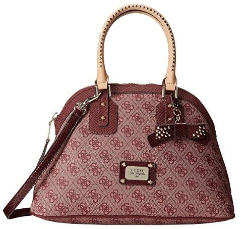 Guess Women's Handbag Satchel Top Handle Cross Body, Wine Red