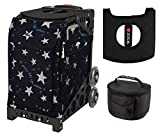 Zuca Sport Bag - Shine Like The Star with Gift Lunchbox and Seat Cover (Black Frame)