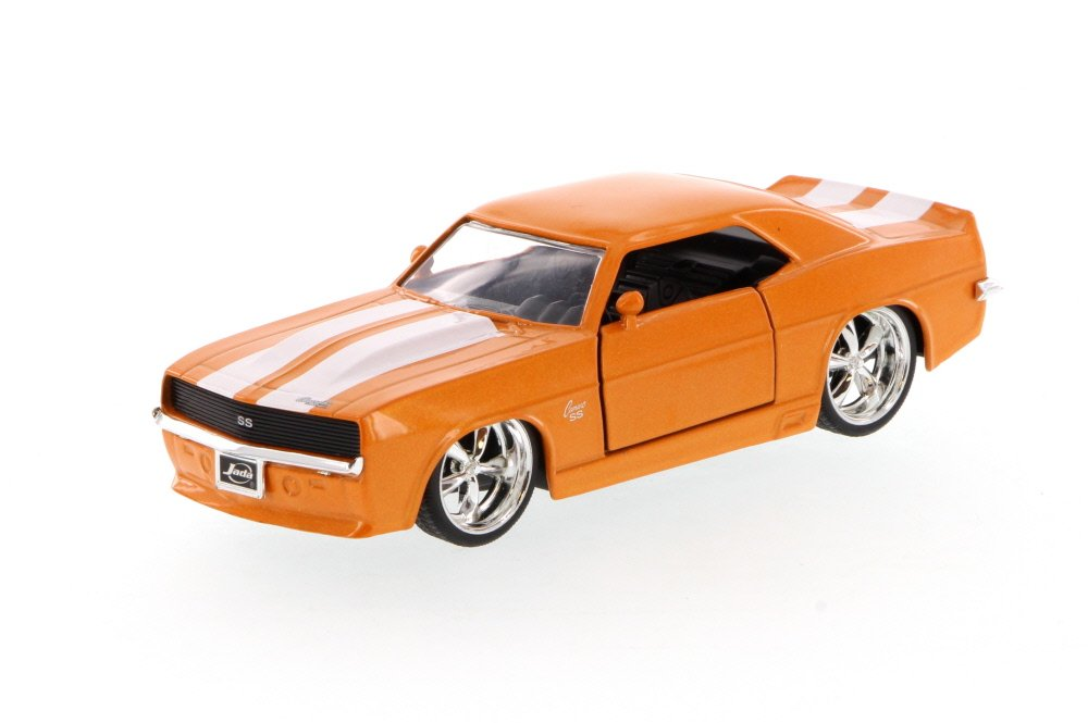 96949-1//32 scale Diecast Model Toy Car 1969 Chevy Camaro Orange w//white stripes