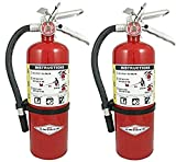 Amerex B500, 5lb ABC Dry Chemical Class A B C Fire Extinguisher (2 Pack)
