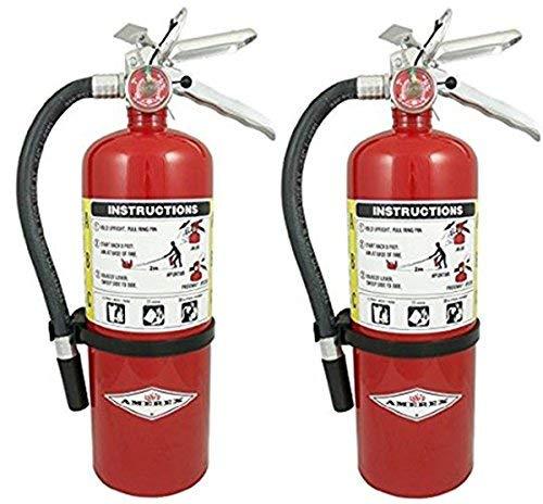 Amerex B500, 5lb ABC Dry Chemical Class A B C Fire Extinguisher (2 Pack)