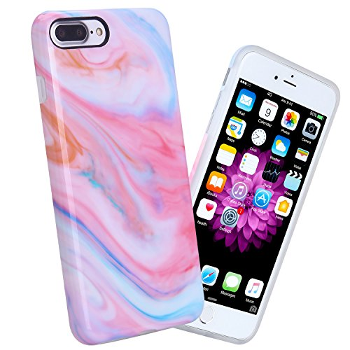iPhone 7 Plus Case, 5.5 inch White Marble Design Slim Shockproof Flexible Glossy TPU Soft Case For iPhone 7 Plus (Colored Marble) - Colored Marble