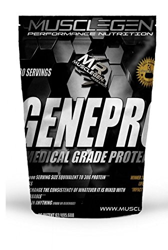 Health Drink Mix (Medical Grade Protein, GENEPRO by Musclegen Research - Premium Protein for Absorption, Muscle Growth & Bariatric. Organic, Non GMO, Gluten Free, No Sugar, Flavorless and Mixes with any Drink.)