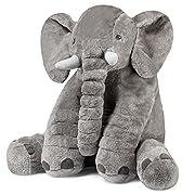 Stuffed Elephant Fluffy Giant Elephant Stuffed Animal Durable Elephant Plush Toy Large Soft Toy Gifts For Kids 24 Inches 1kg Grey