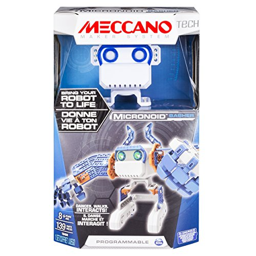 engineering toys for 12 year olds Meccano Micronoid - Blue Basher