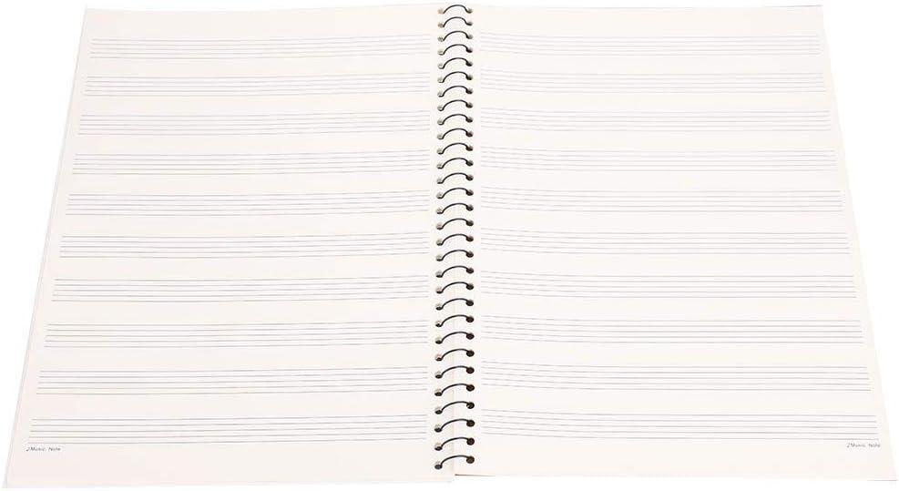 Cahier de Musique Manuscrit Dilwe 50 Pages Cahier de Manuscrit de Notation Musicale