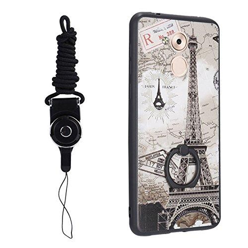 Foglio Respingente Eiffel Huawei 1 6a Tpu Rotante Il Duro Disegno Torre modello gradi Onore Protettivo 5 Per Cordicella Yhuisen Dal Sveglio Con E Fumetto 360 Anello Vestito Caso Titolare x86fXgx