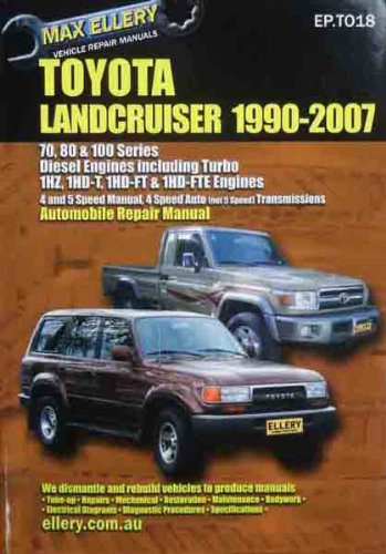 TOYOTA LAND CRUISER DIESEL 70 80 100 SERIES REPAIR MANUAL 1990-2007 ()