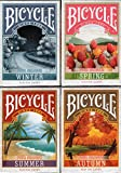 Four Seasons 4 Deck Set Bicycle Playing Cards Poker Size USPCC Custom Limited