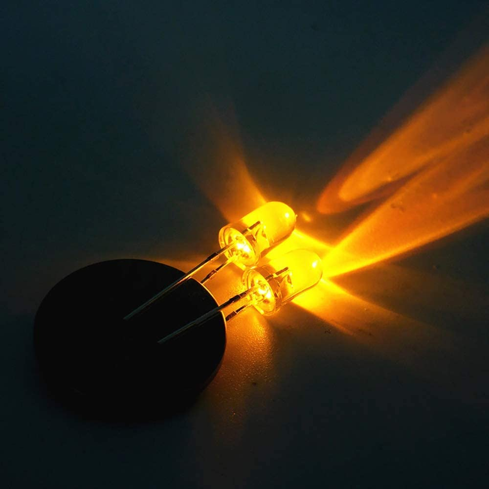 MCIGICM 120Pcs 10 Colors x 12 Pcs 5mm LED Light Diodes Circuit Assorted for A...
