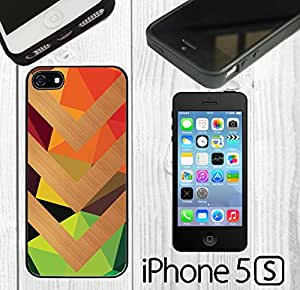 Wood Chevron on Color Custom made Case/Cover/skin FOR iPhone 5/5s -Black - Rubber Case