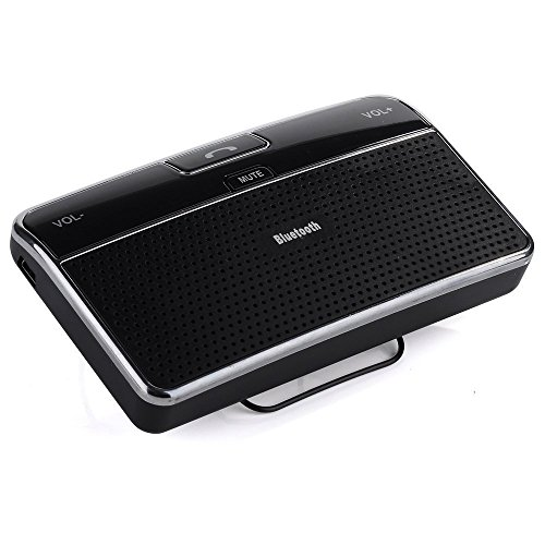 Bluetooth Speakerphone Pda (DLAND Bluetooth 4.0 Visor Handsfree In-Car Speakerphone Car kit for iPhone, Samsung, HTC and all other Cellphones)