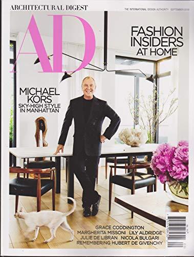 Architectural Digest Magazine September 2018 (Michael Kors)