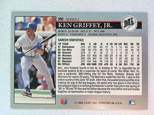 48eade10db Amazon.com: 1992 Leaf #392 Ken Griffey Jr NM/M (Near Mint/Mint):  Collectibles & Fine Art