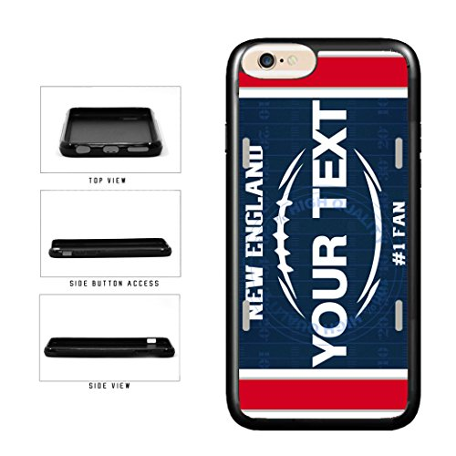 BleuReign(TM) Personalized Custom Name Football New England License Plate TPU RUBBER SILICONE Phone Case Back Cover For Apple iPhone 7 Plus