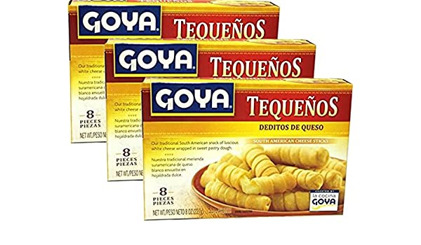 Goya Tequenos Filled with White Cheese 4 Servings 8 0z Pack of 3: Amazon.com: Grocery & Gourmet Food