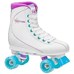 Roller Derby U725W-05 Women's Roller Star 600 Quad Skate, Size 05, White/Lavender