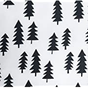 Changing pad Cover in Black Pine Trees by Woodland Baby Co. - Handmade in The USA