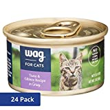 Amazon Brand - Wag Wet Cat Food, Tuna & Giblets Recipe in Gravy, 3 oz Can (Pack of 24)