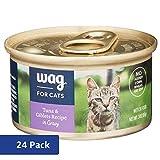 Amazon Brand - Wag Wet Cat Food, Tuna & Giblets Re...