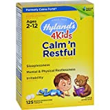 Hylands Homeopathic Calms Forte 4 Kids - Ages 2 to 12 - Natural Relief - 125 Tablets (Pack of 2)