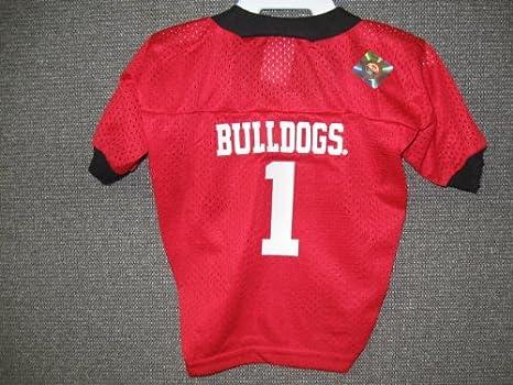 newest 9ea45 ba060 Amazon.com : University of Georgia Pet Football Jersey Small ...