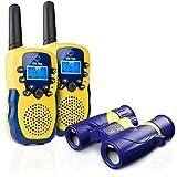 USA Toyz Kids Walkie Talkies with Binoculars - Vox Box Voice Activated Long Range Walkie Talkie Set w/ Binoculars for Kids, Outdoor Toys for Boys or Girls